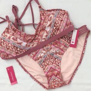 Xhiliration Bikini dusty pink print XL